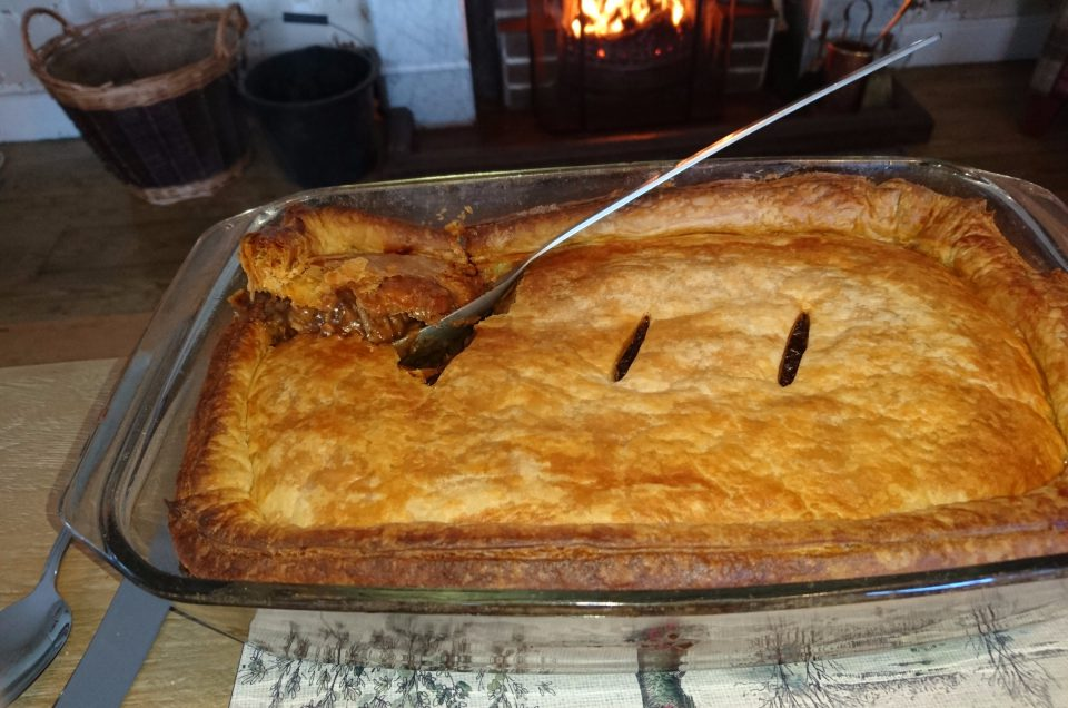 Beef, Barley and Black pudding Pie