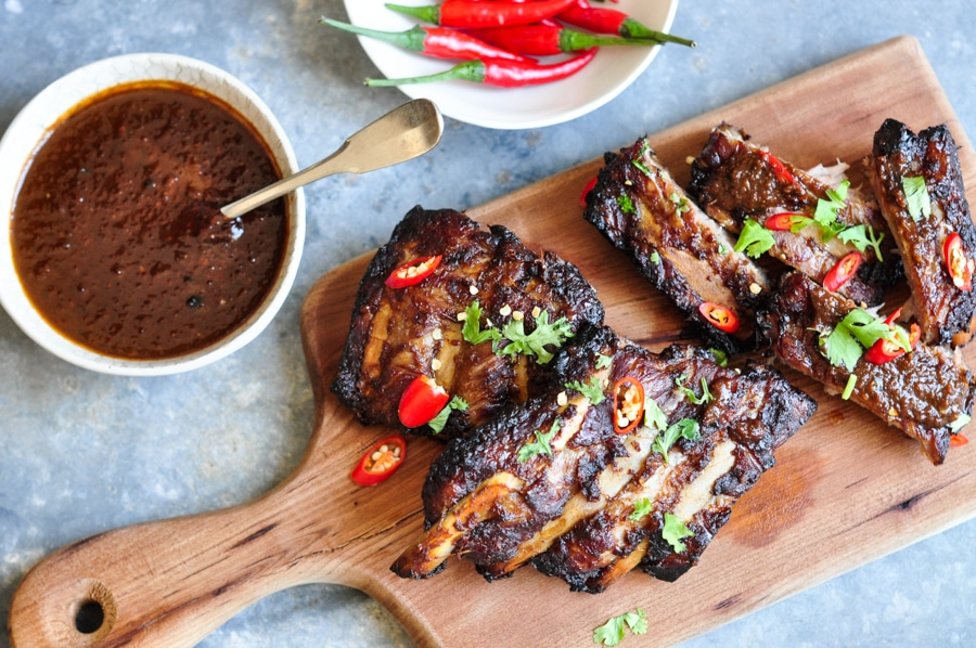 Sticky Chinese BBQ Lamb Ribs